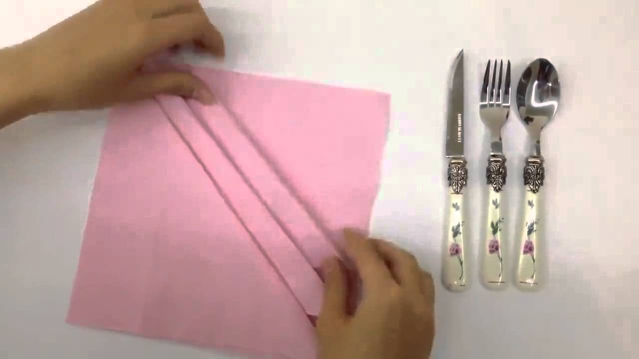 Try This Easy Napkin Folding Technique