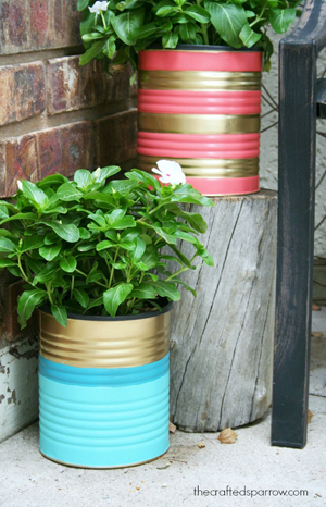 Painted Tin Can Planters-DIYscoop.com