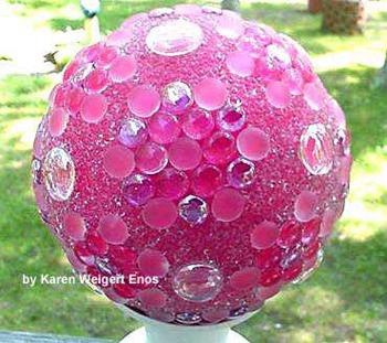 Pink garden ball by Karen Enos- DIYscoop.com