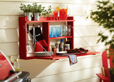 outdoor fold-down buffet- DIYscoop.com