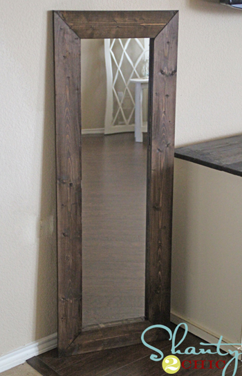 mirror with new wood frame- DIYscoop.com