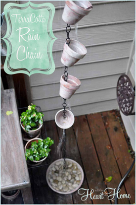 clay pot rain chain- DIYscoop.com