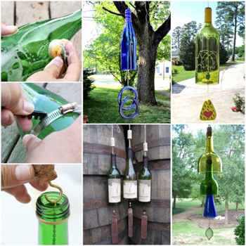 wind chimes from wine bottles- DIYscoop.com